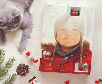 Calendriers de l'avent photo + Kinder à gagner