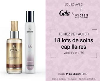 Jeu Gala & System Professional : 18 duos de soins capillaires offerts