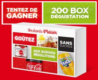 200 box de boissons light offertes