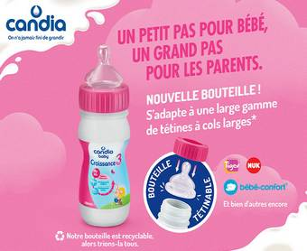500 Laits infantiles Candia Baby offerts