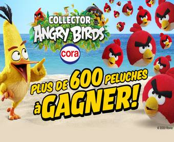 A gagner : 610 peluches Angry Birds
