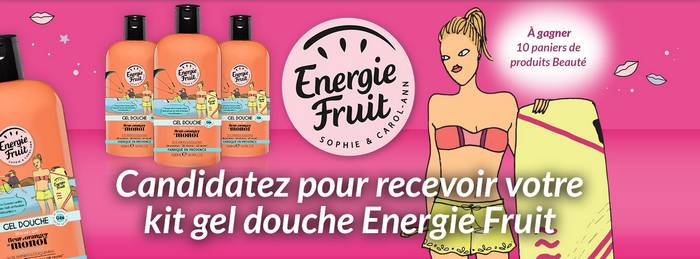 A tester : 50 kits Gel Douche Energie Fruit !