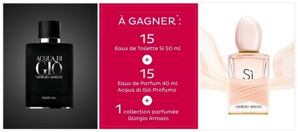 NocibéGagnez Armani Jeu Giorgio Votre Parfum j35R4LqA