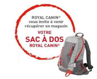 Royal Canin : sacs à dos offerts sur simple visite en magasin