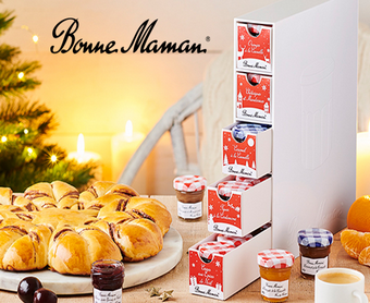 25 lots de noël 100% gourmands Bonne Maman à remporter